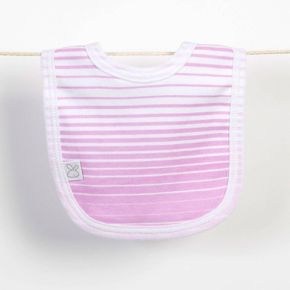 Babero recién nacido MUSIC rosa