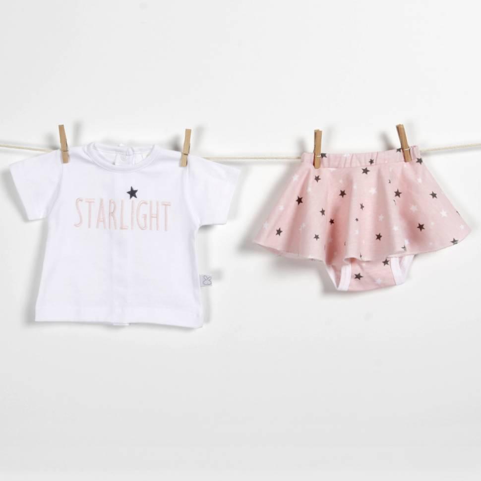Conjunto FALDA Starlight rosa