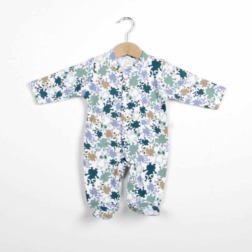 Pijama de algodón UFO verde