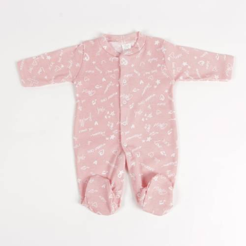 Pijama de algodón JUSTIN rosa
