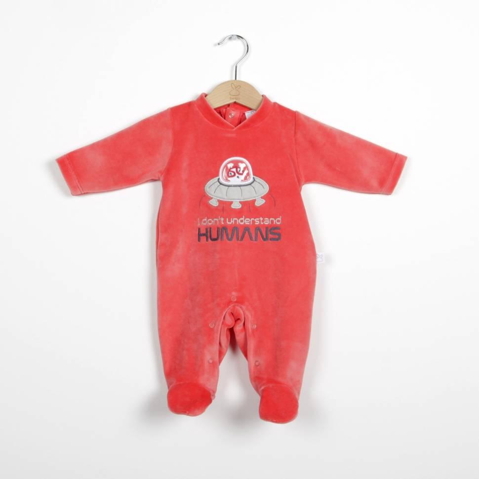 Pijama UFO rojo de beltin newborn