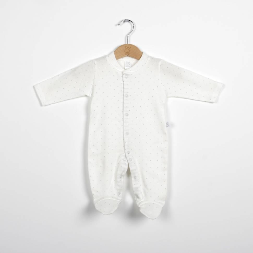 Pijama de algodón BIRDIE beige