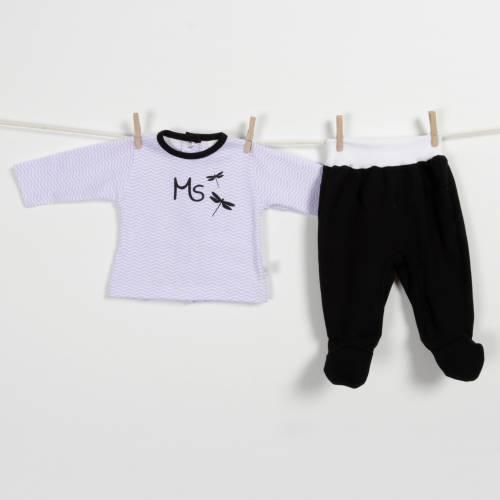 Conjunto bebé ZIG-ZAG lila