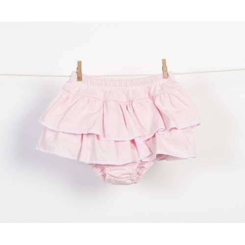 Braguita falda de volantes rosa
