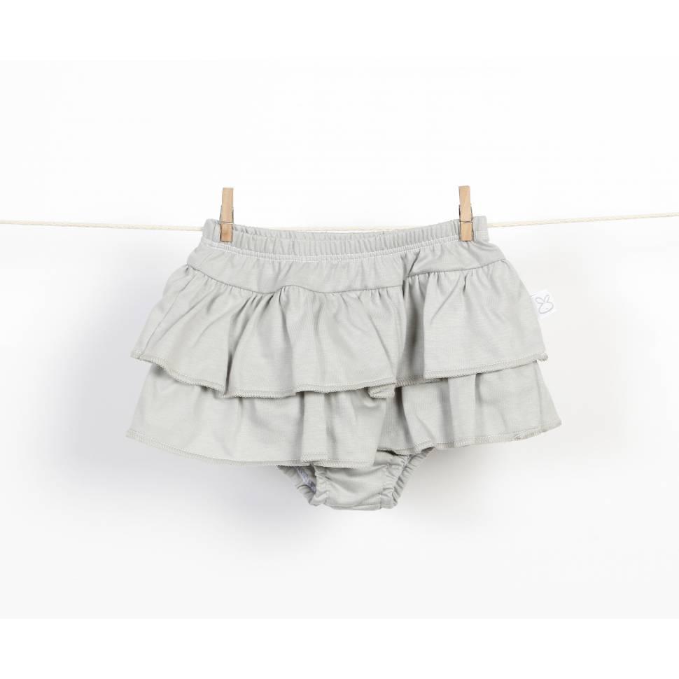 Braguita falda de volantes gris