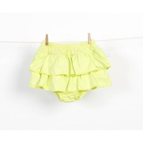 Braguita falda de volantes pistacho
