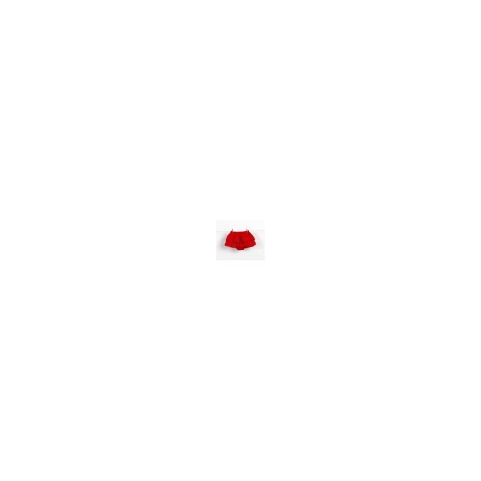 Braguita falda de volantes rojo