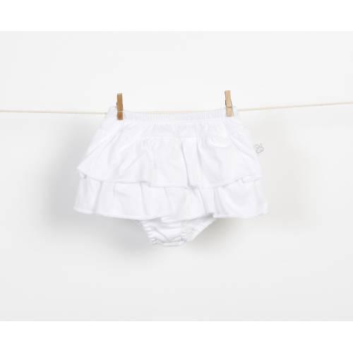 Braguita falda de volantes blanco