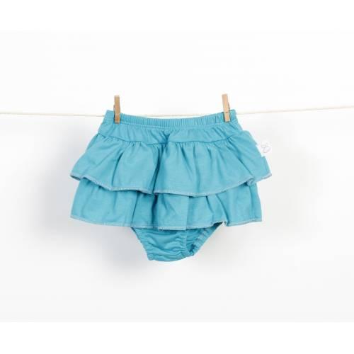 Braguita falda de volantes turquesa