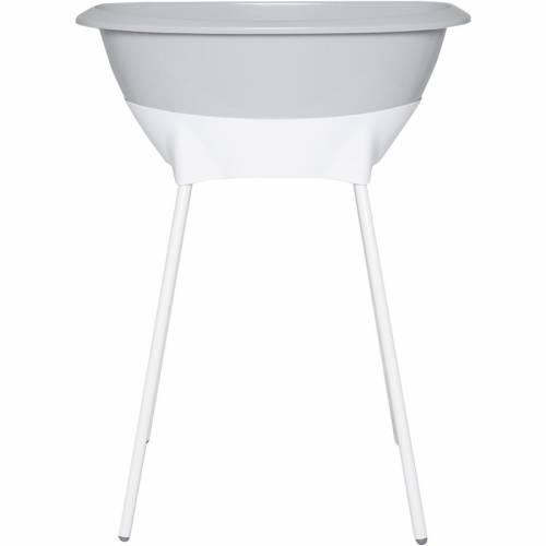 Bañera con patas y desagüe Luma gris