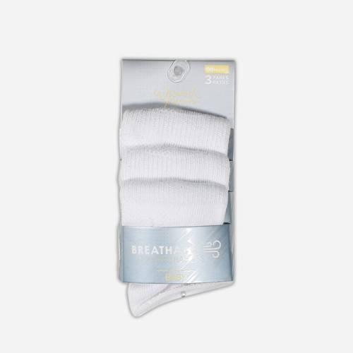 3 Pares de calcetines Isabel Mora Blancos sin puño