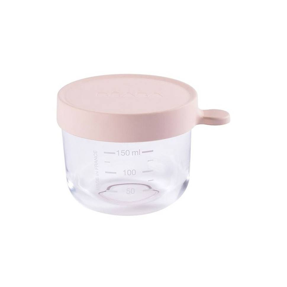 Bote cristal Béaba 150 ml rosa