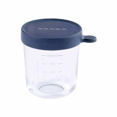 Bote cristal Béaba 250 ml azul