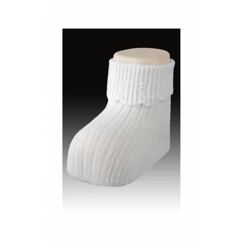 Calcetines Carlomagno blanco T. bebé