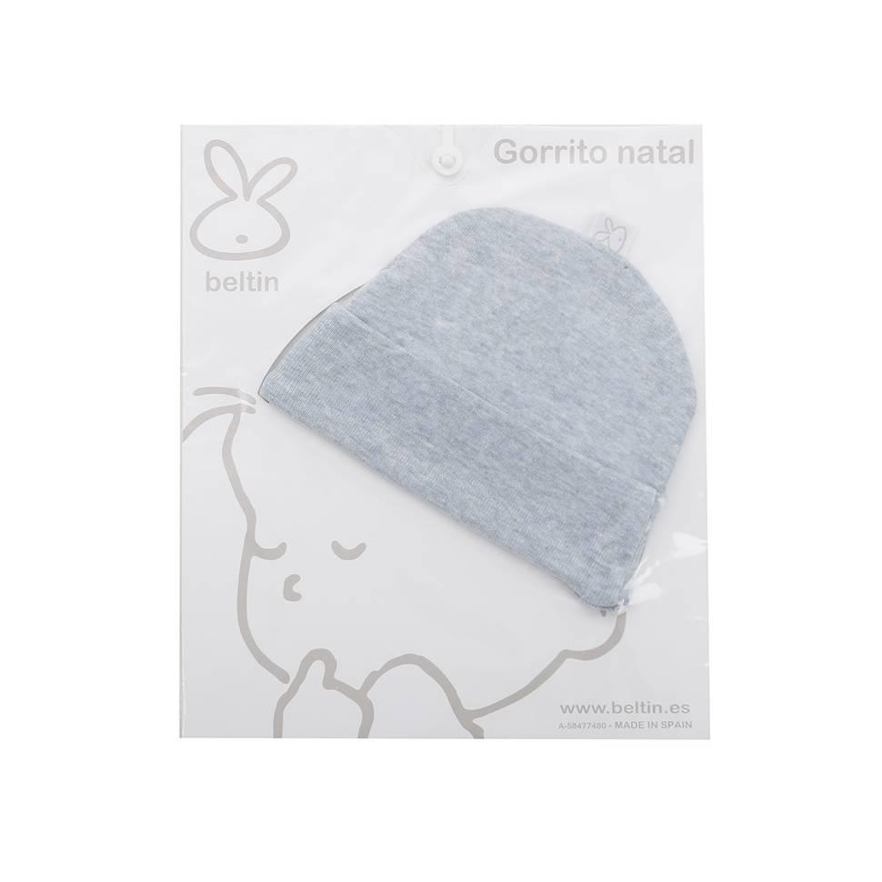 Gorrito natal para bebé Beltin newborn azul vigoré
