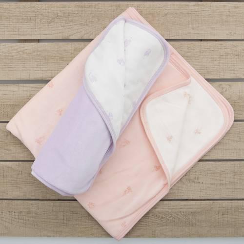 Pack recién nacido de 2 arrullos. Copito rosa y Peluche azul Beltin newborn