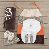 Pack recién nacido compuesto de primera puesta para bebé de camiseta bordada con ranita, patucos y gorrito de terciopelo, arrull