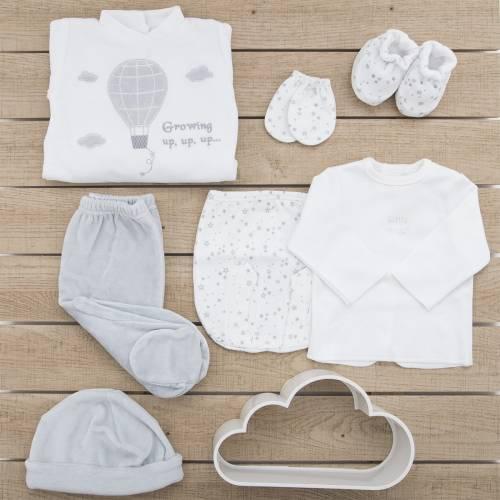Pack de primera puesta para bebé Beltin newborn CIELO GRIS