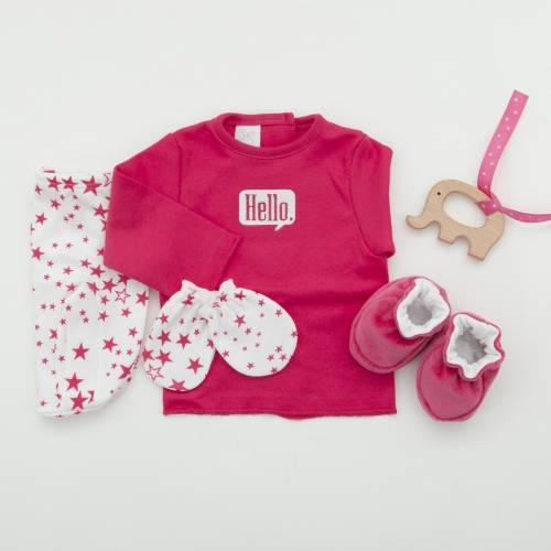 Pack recién nacido HELLO FUCSIA