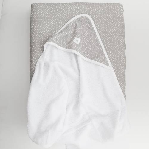 Pack capa de baño para bebé + funda COLINS gris