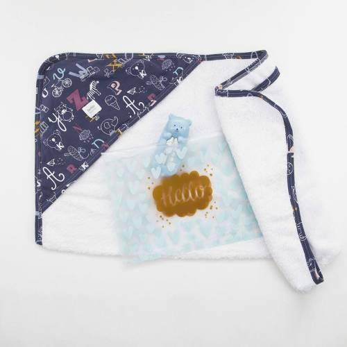 Pack capa de baño para bebé MEMO AZUL