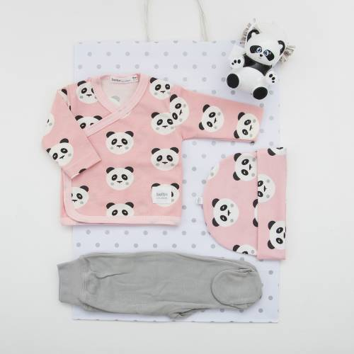 Pack primera puesta para bebé TOMY ROSA de beltin newborn
