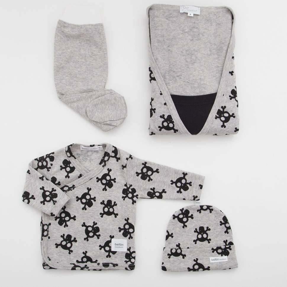 Pack de camisón de premamá y lactancia, primera puesta para bebé y gorrito Beltin newborn ALFA