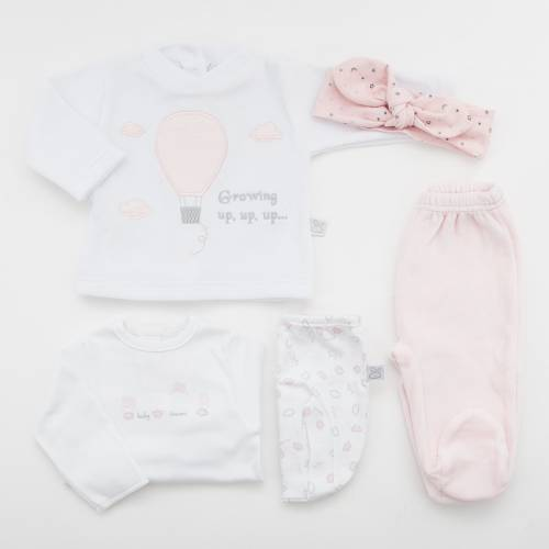 Pack primera puesta para bebé CIELO ROSA de beltin newborn