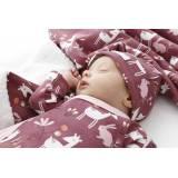 Pack recién nacido BAMBI2. Cruzado, pantalón, gorro, bandana, arrullo de algodón y felpa bebé