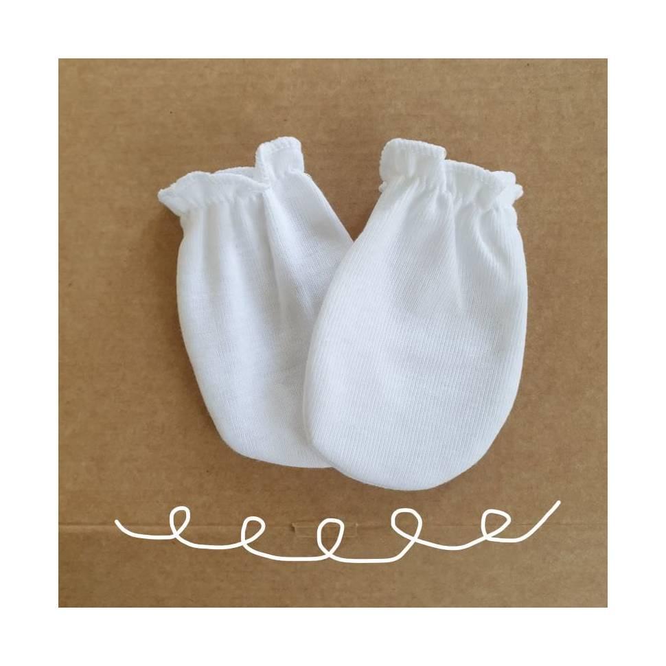 Manoplas para bebé recién nacidos BLANCAS