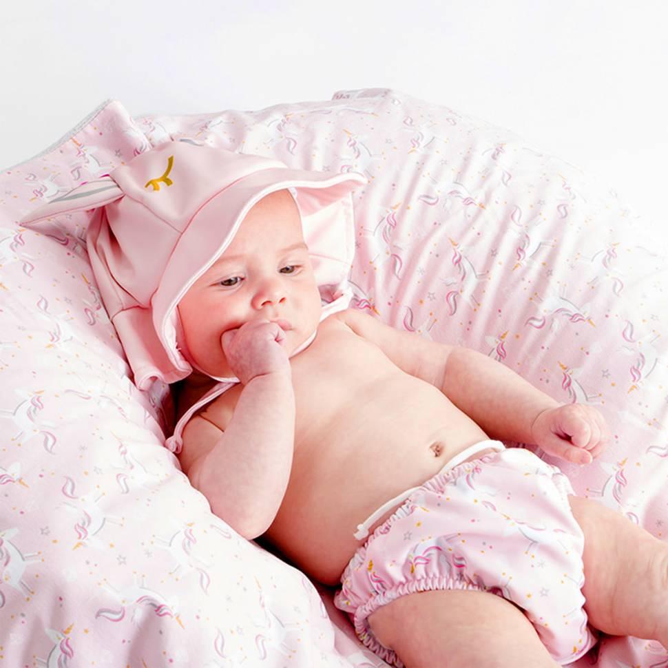 Bañador con gorro para bebé Beltin Licorn Lateral