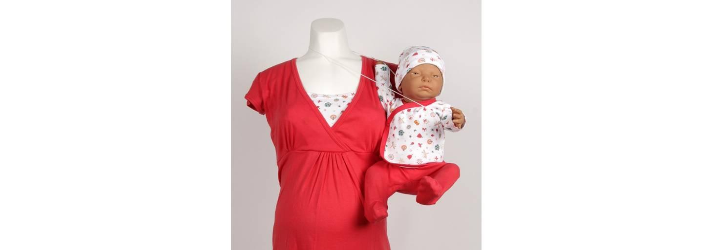 baf433e14 Camisón lactancia a conjunto con la primera puesta de tu bebé ...